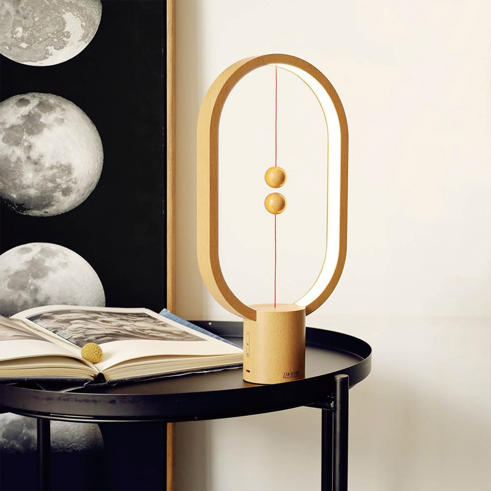 ZAN DESIGN|HengPRO 衡 LED檯燈 2.0 烤漆款 - 橢圓形 - 木紋色