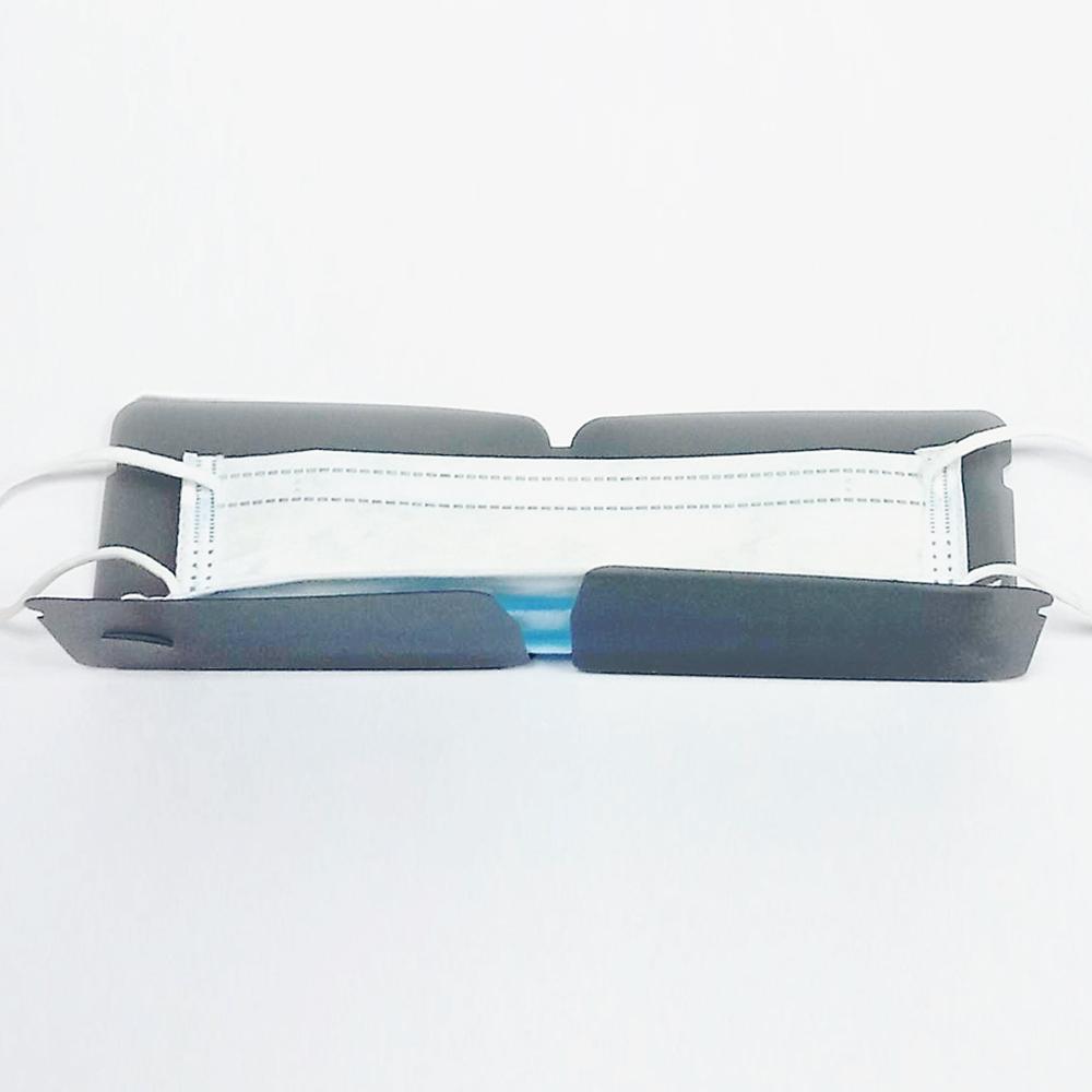 Mask Shield 口罩保護夾(台灣製)/加厚版/霧黑色 - 五入組