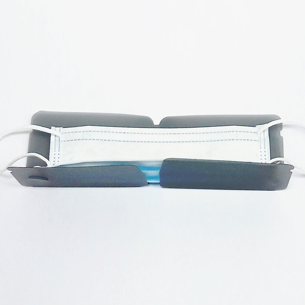 Mask Shield|口罩保護夾(台灣製)/加厚版/霧黑色 - 十入組