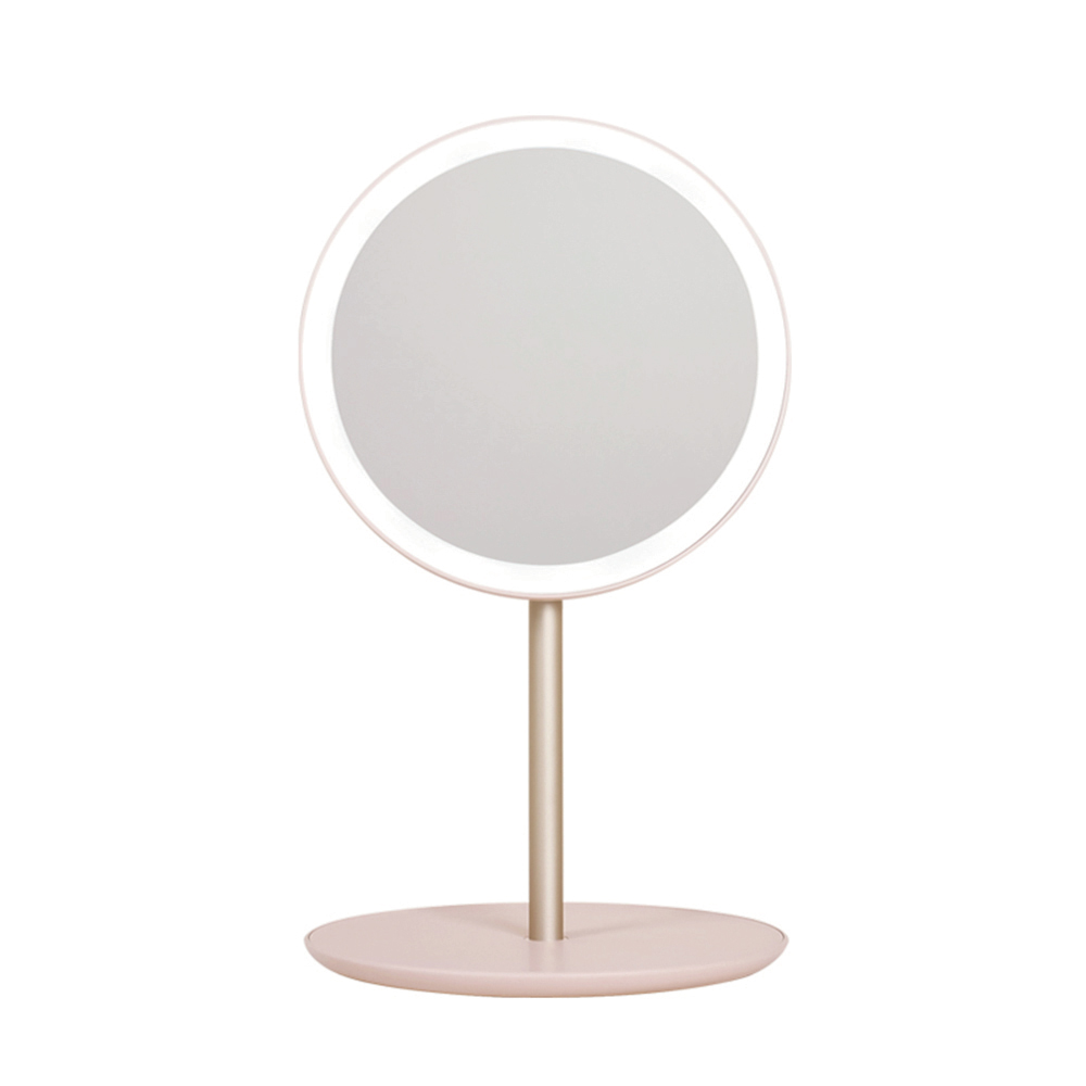 Ethne 摺疊旅行美妝鏡 - 粉紅色