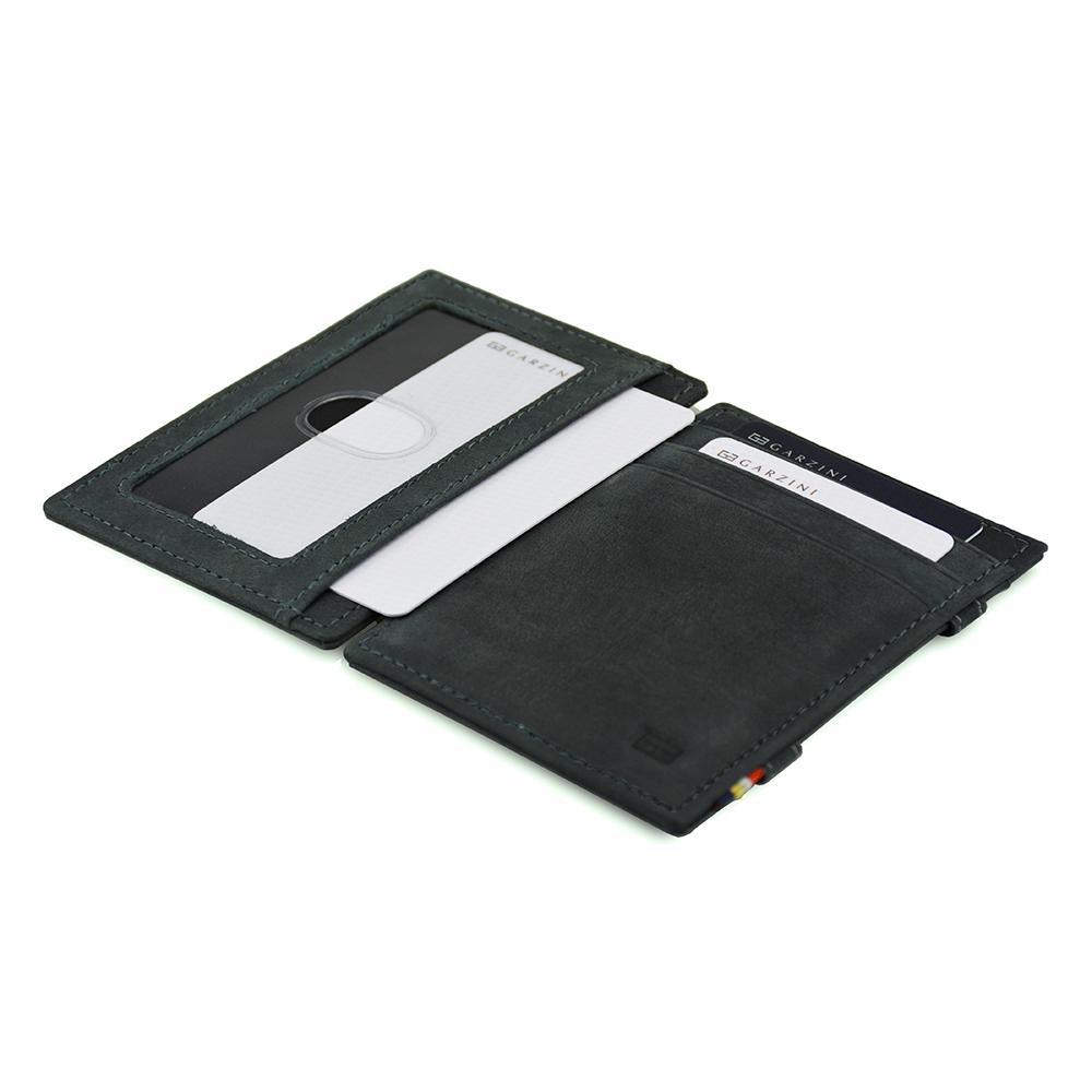 GARZINI|比利時翻轉皮夾 - 證件窗極簡款 - 鐵灰色
