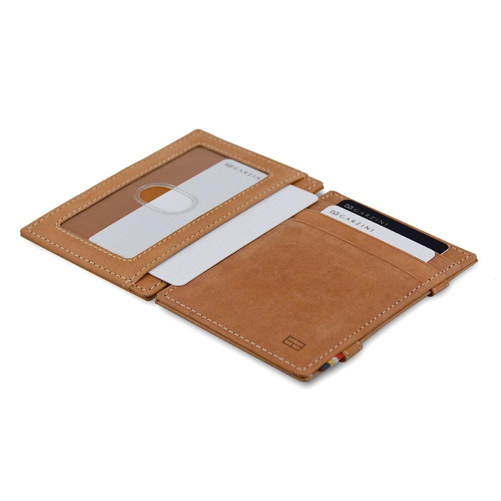 GARZINI 比利時翻轉皮夾 - 證件窗極簡款 - 淺棕色