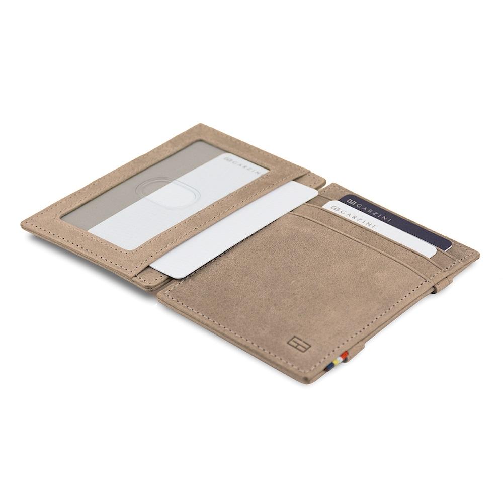 GARZINI|比利時翻轉皮夾 - 證件窗極簡款 - 淺灰色
