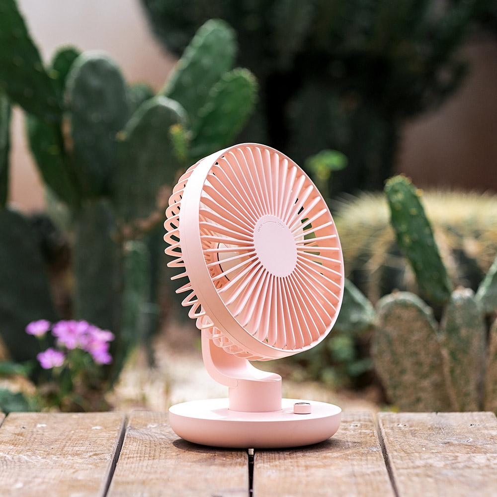 Ethne|超廣角搖頭風扇 - 粉紅色