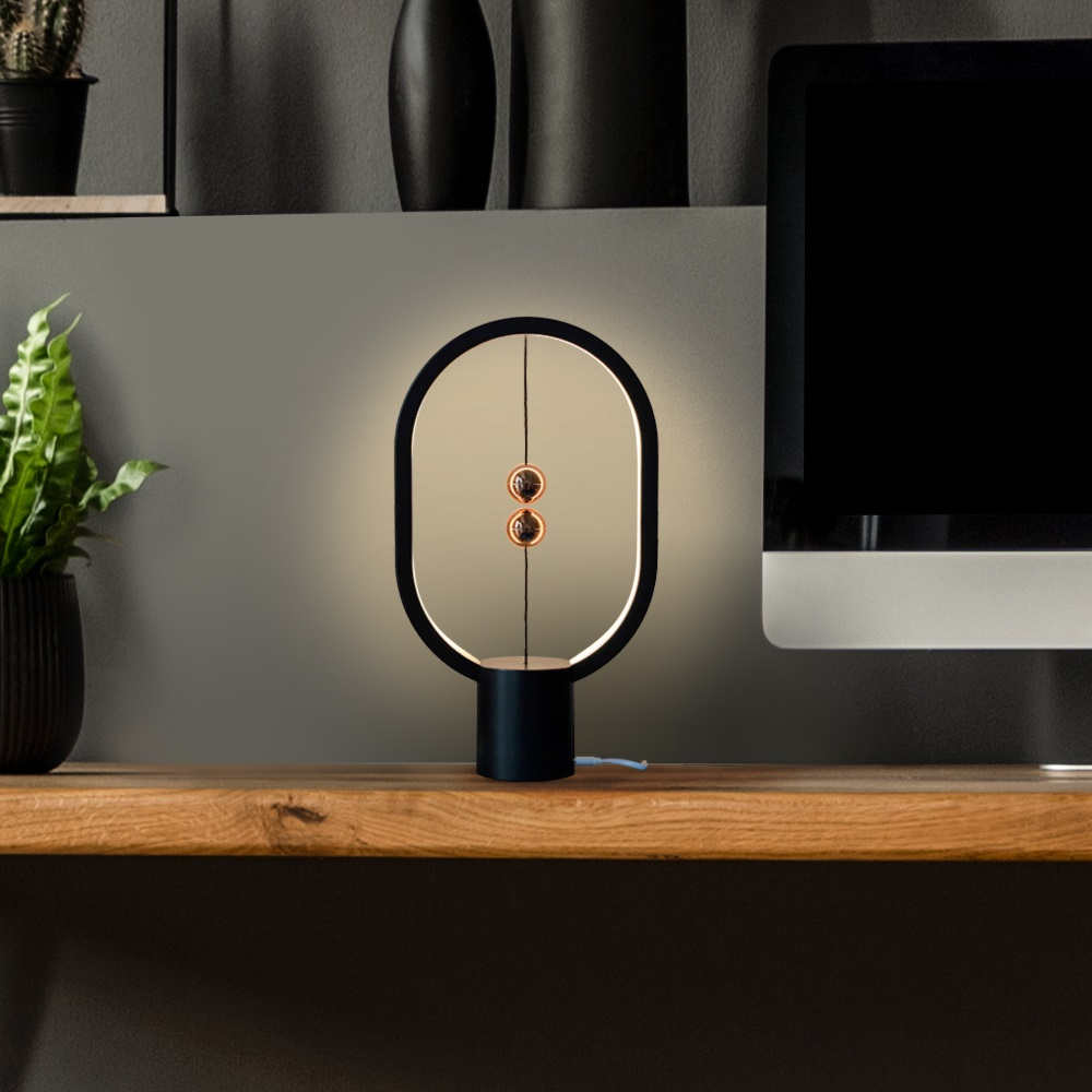 ZAN DESIGN|HengPRO 衡 LED檯燈mini 2.0 - 橢圓 - 黑金