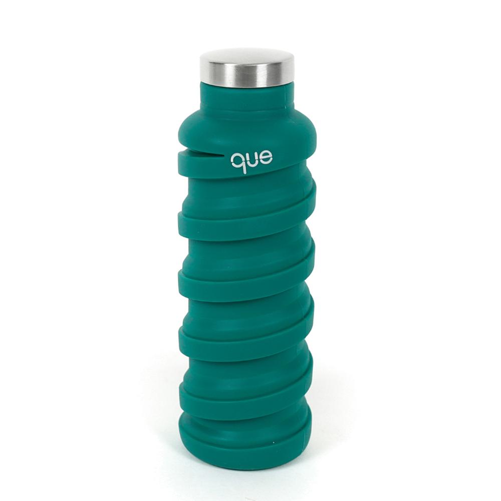 que Bottle|伸縮水瓶(600ml) - 森林綠