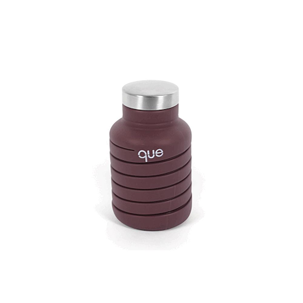 que Bottle|伸縮水瓶(600ml) - 咖啡棕
