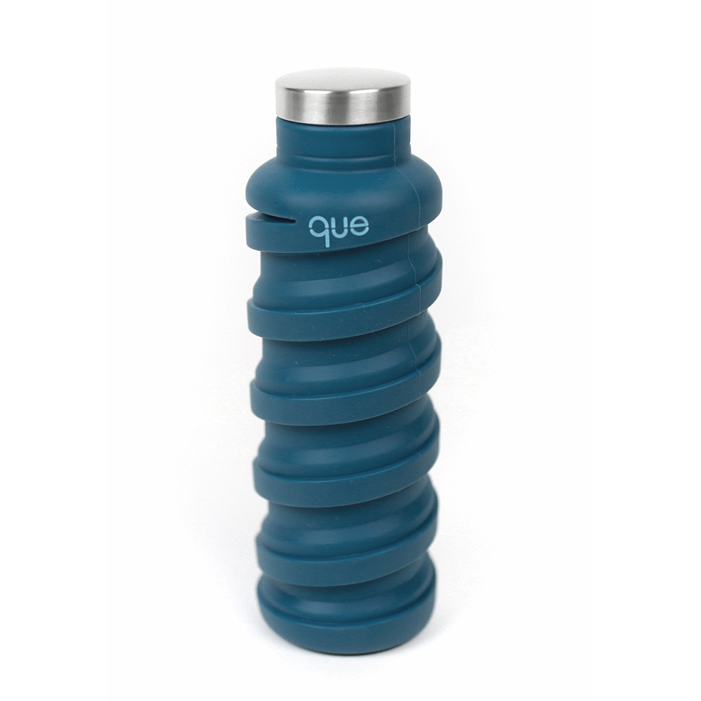 que Bottle 伸縮水瓶(600ml) - 寶石藍