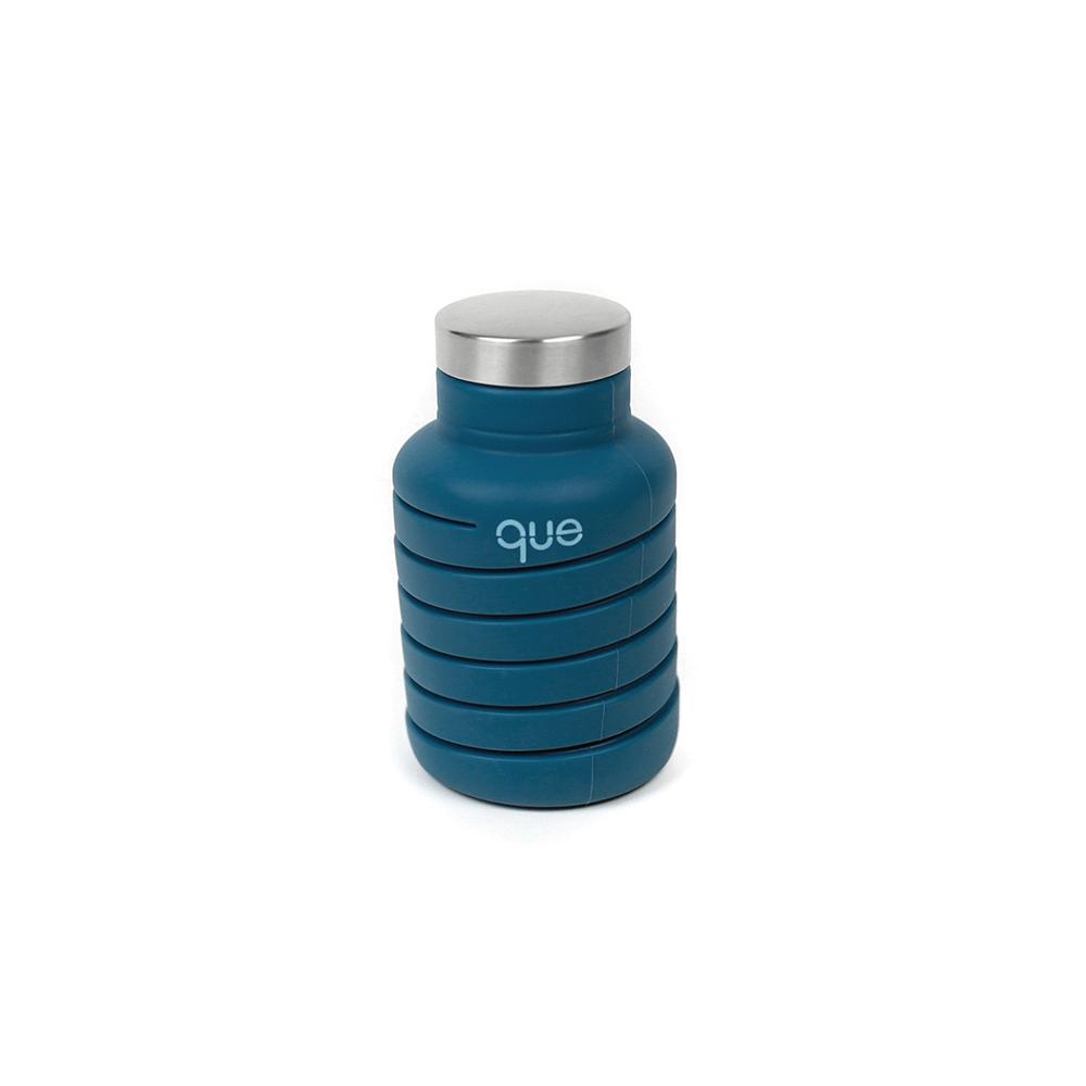 que Bottle|伸縮水瓶(600ml) - 寶石藍