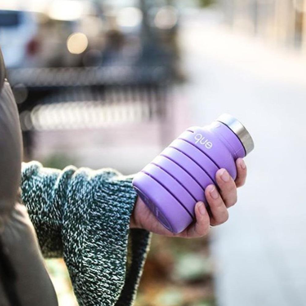 que Bottle 伸縮水瓶(600ml) - 附提把瓶蓋 - 薰衣紫