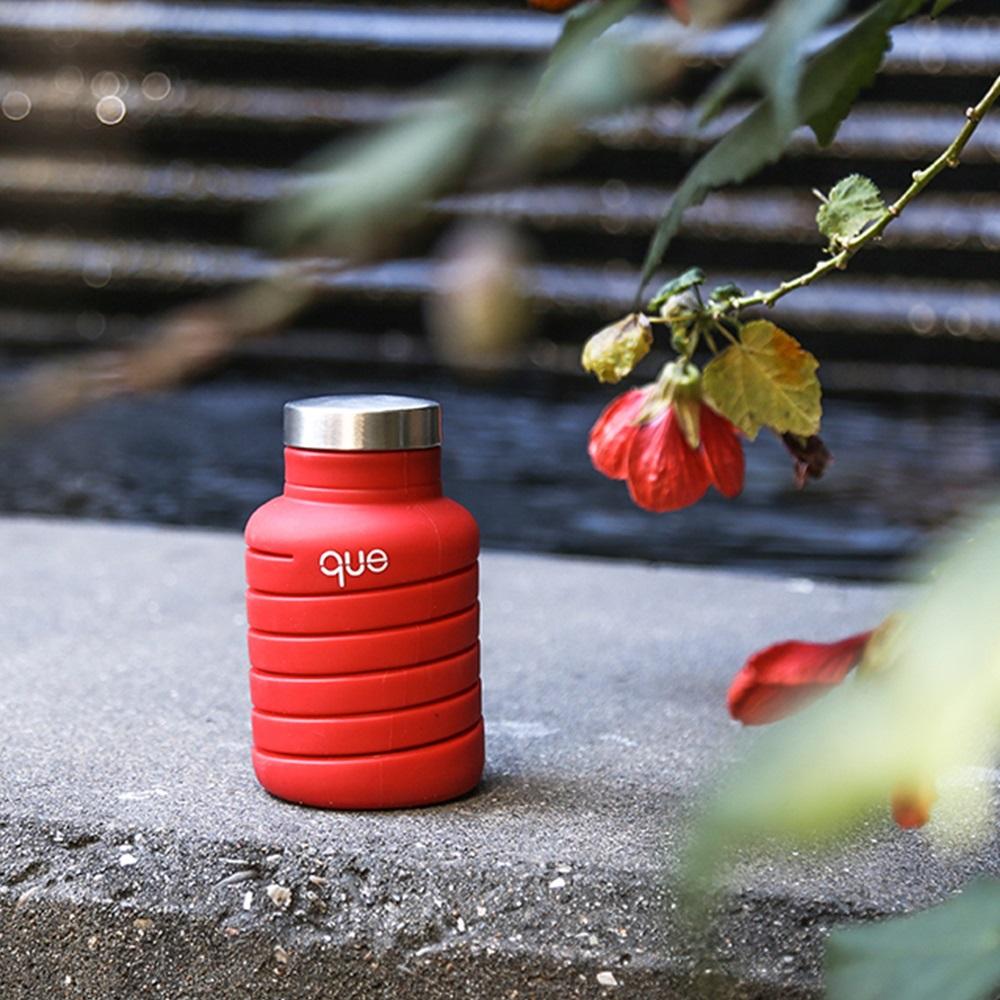 que Bottle 伸縮水瓶(600ml) - 附提把瓶蓋 - 魔力紅