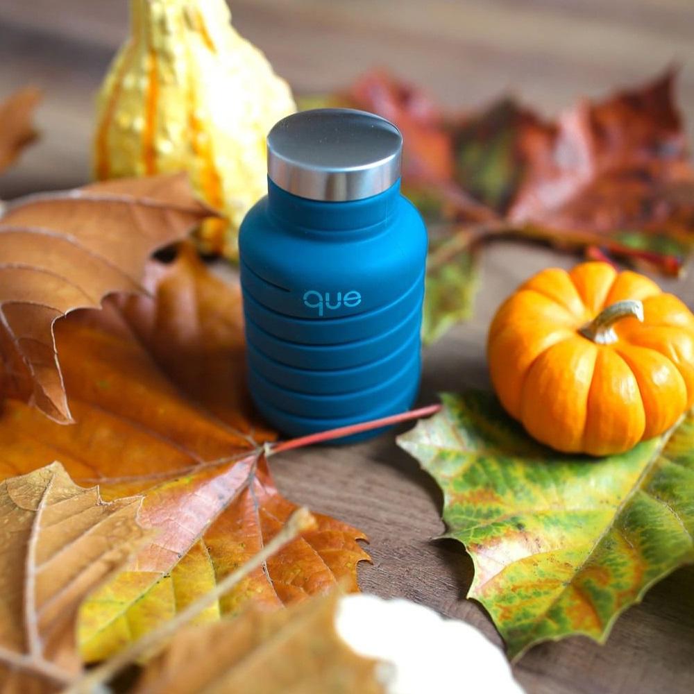 que Bottle 伸縮水瓶(600ml) - 附提把瓶蓋 - 藏青藍