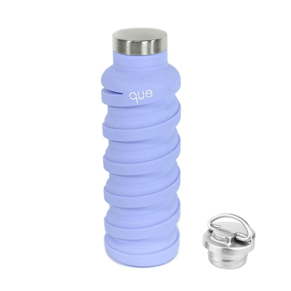 que Bottle|伸縮水瓶(600ml) - 附提把瓶蓋 - 丁香紫