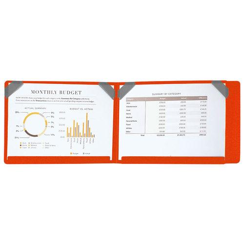 SN°OVAE 跨頁圖表資料夾 - 橘色