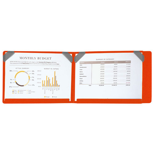 SN°OVAE|跨頁圖表資料夾 - 橘色