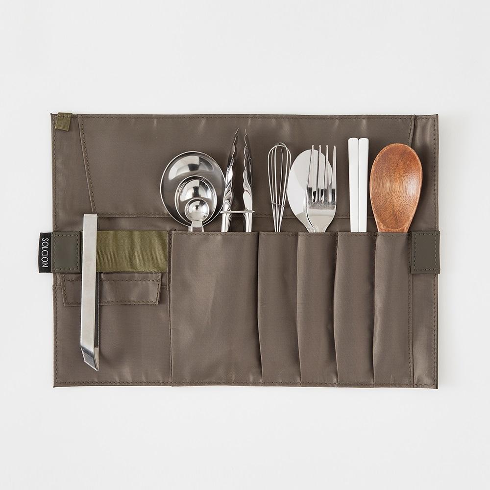 Solcion|KURNUT 捲捲收納袋 - 橄欖綠