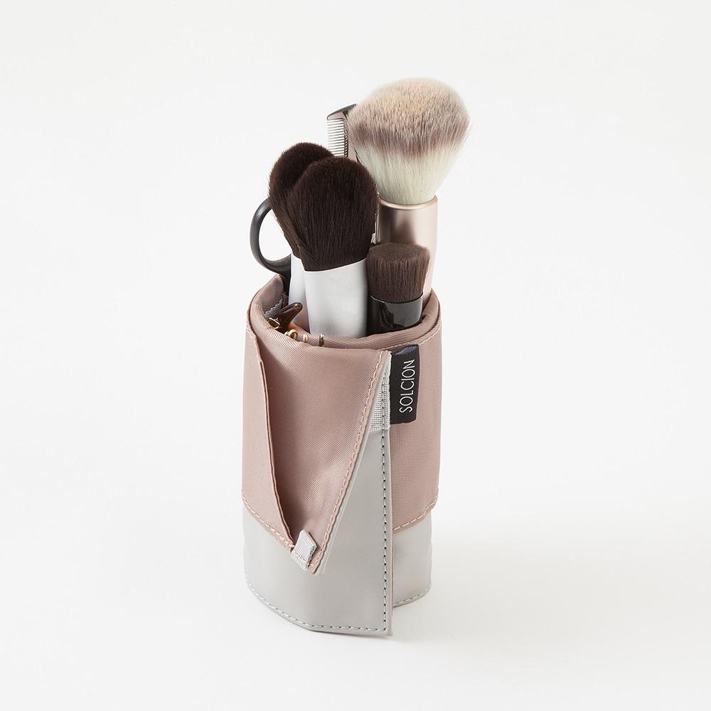 Solcion KURNUT 捲捲收納袋 - 灰粉色
