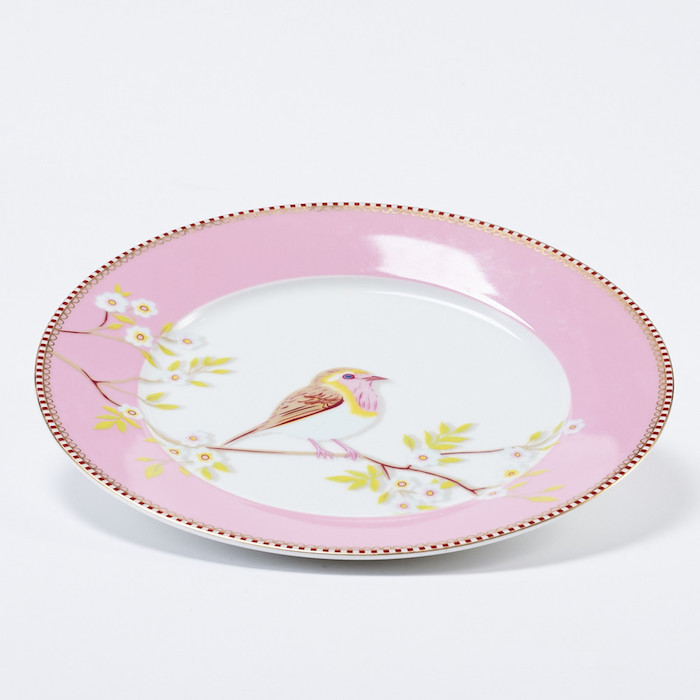 Pip Studio粉紅枝頭雛鳥餐盤
