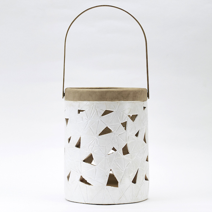Bloomingville 淺灰色陶土製燈籠