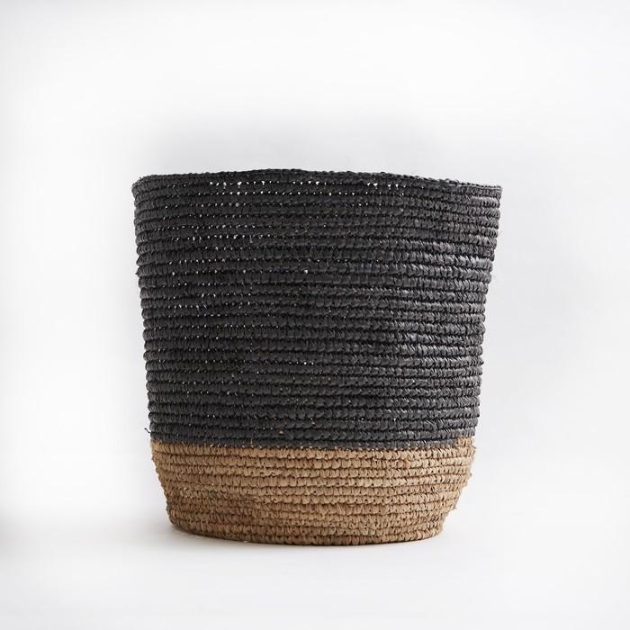 (複製)Bloomingville|咖啡黑色編織置物籃(大)