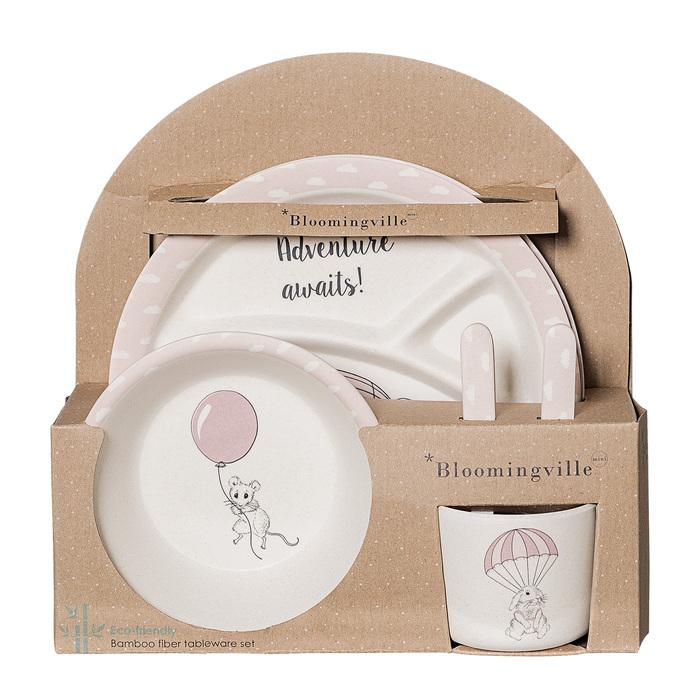 (複製)Bloomingville|兒童餐具 6件組-杏白