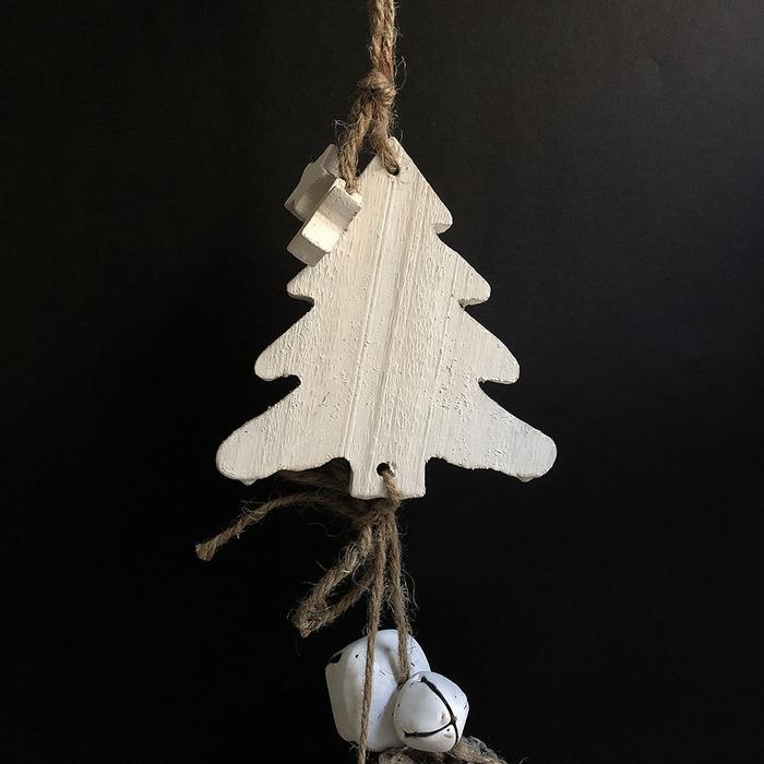 Baden|銀色松果雪白聖誕樹裝飾&擺件