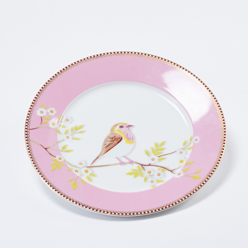 Pip Studio|粉紅枝頭雛鳥餐盤