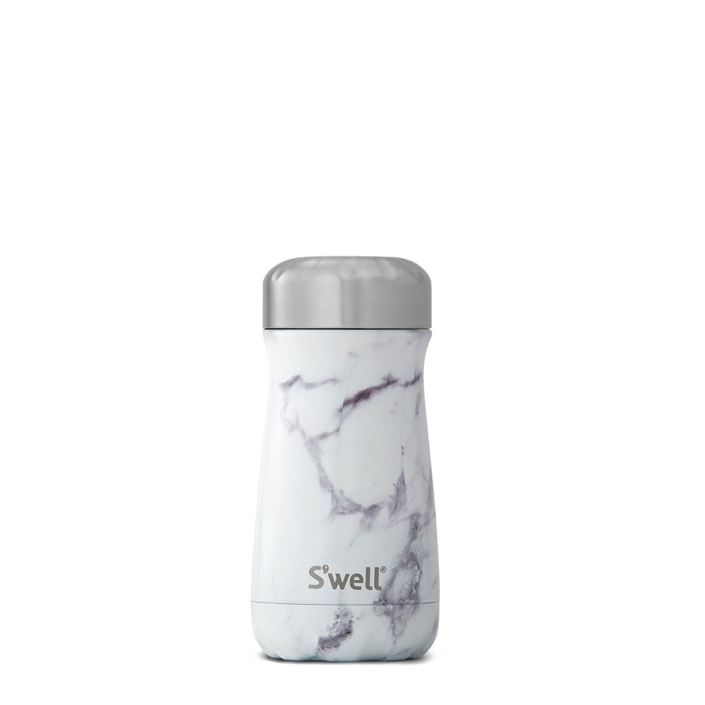 Swell|時尚不鏽鋼水壺Traveler-White Marble 12oz.