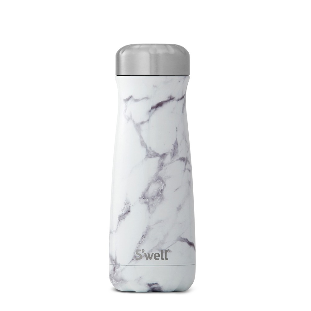 Swell|時尚不鏽鋼水壺Traveler-White Marble 20oz.