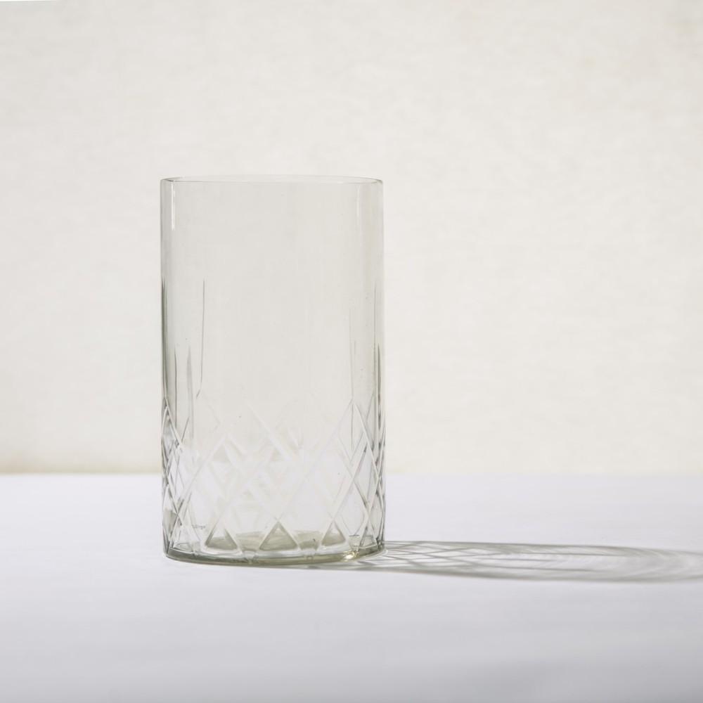 Bloomingville|宮廷微光透明直筒燭杯