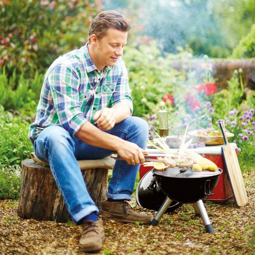Jamie Oliver|戶外彩色BBQ-黑色+餐具組(一套4款,每款4支.共16支)