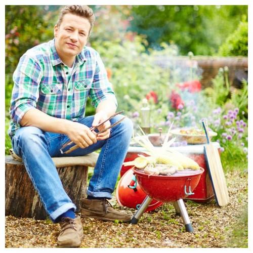 Jamie Oliver|戶外彩色BBQ-灰藍色+餐具組(一套4款,每款4支.共16支)