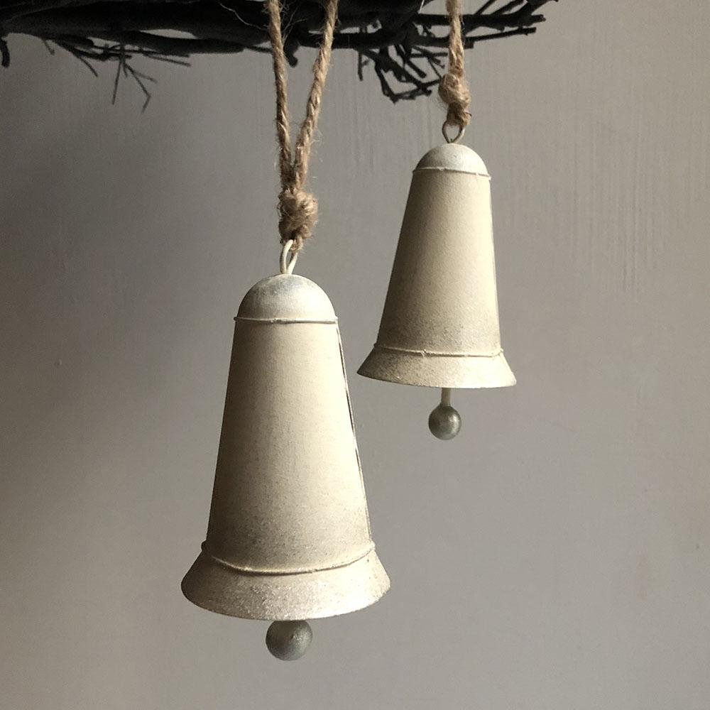 Baden|聖誕銀白色裝飾鈴鐺(一對)