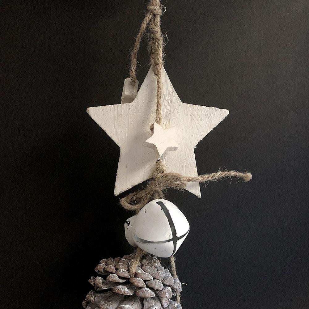 Baden|銀色松果雪白星星裝飾&擺件