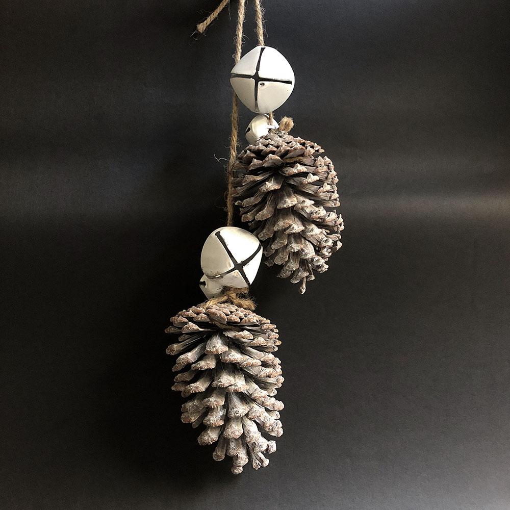 Baden|銀色松果雪白天使裝飾&擺件
