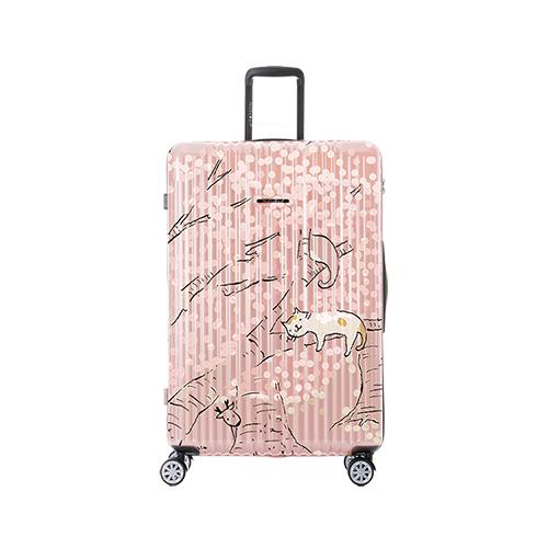 NaSaDen 新無憂系列 貓小姐聯名櫻の喵限量29吋行李箱(粉紅)(預購)