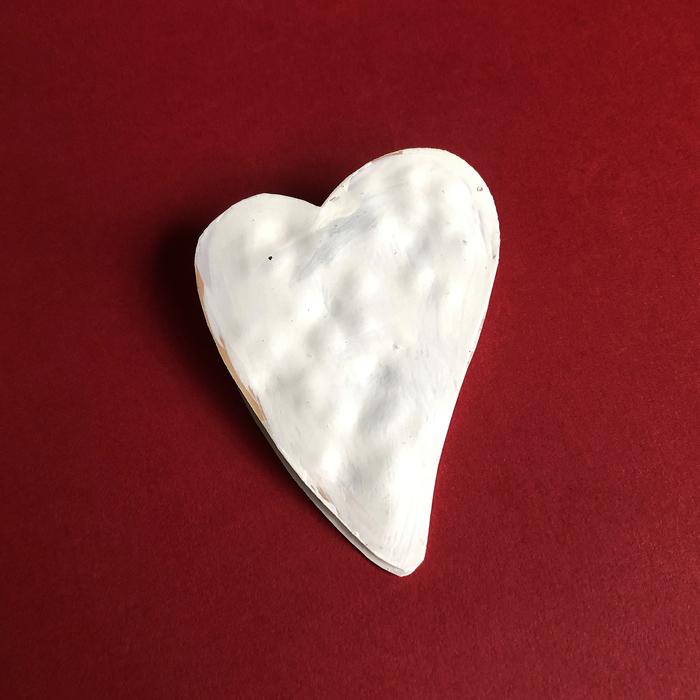 (複製)Baden|心型金屬手做Memo夾-白(一對)