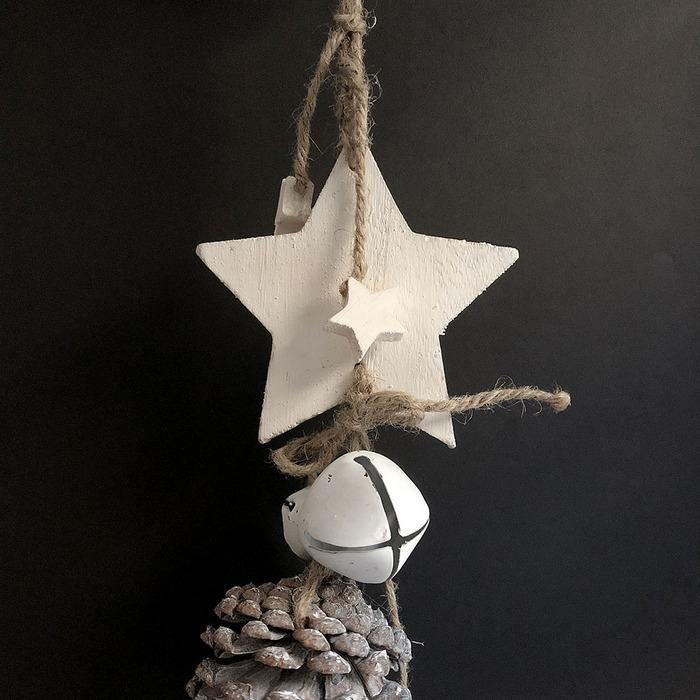 Baden|銀色松果雪白星星)裝飾&擺件