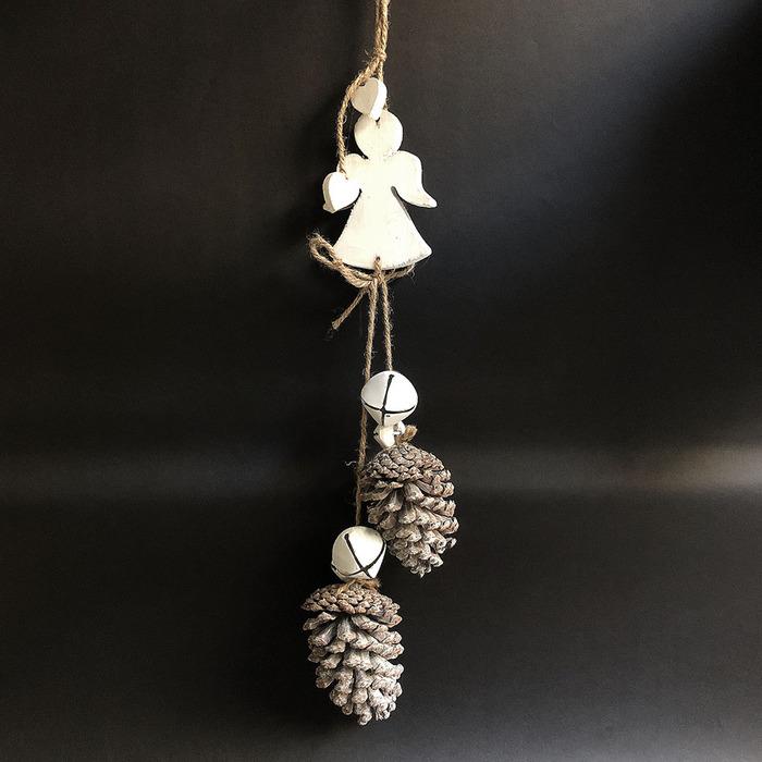 Baden|銀色松果雪白星星裝飾&擺件天使