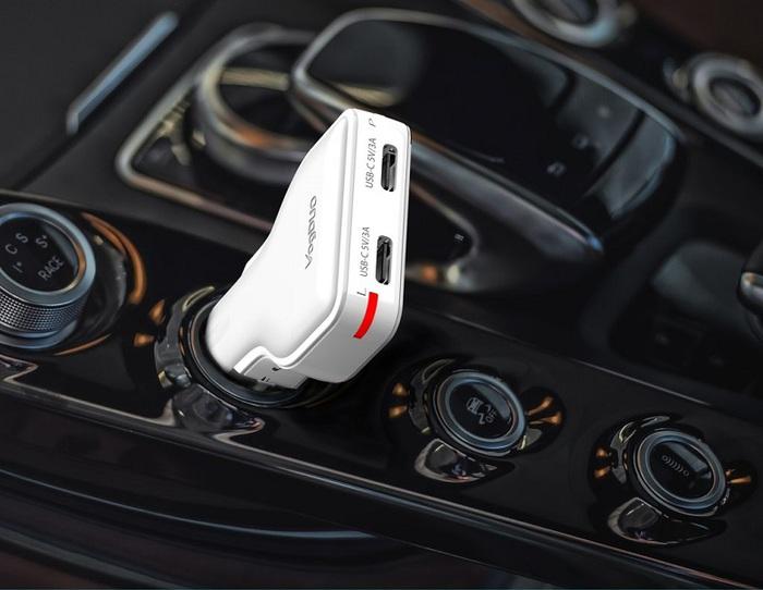 VogDUO | Charger Go 30W雙Type-C專業高速多功能車充(經典黑)