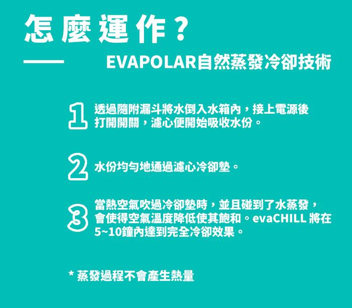 Evapolar | evaCHILL 第三代隨身個人冷氣機