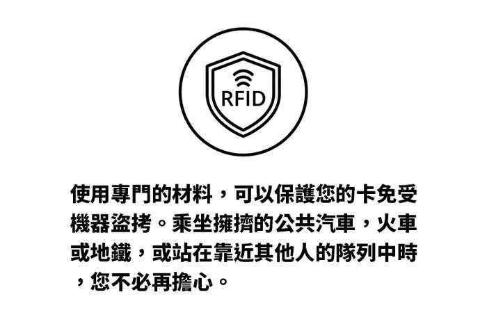 Baggizmo | Wiseward Essential 時尚超薄RFID防盜皮夾 (經典黑)