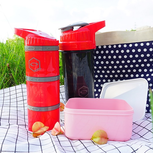Cyclone cup   Amazing Shaker 無毒多功能運動休閒水壺 - 熱情紅