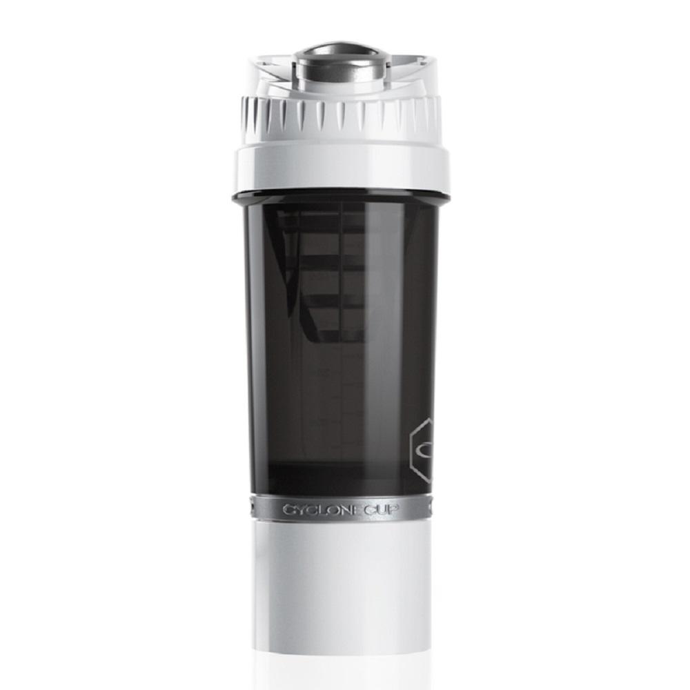 Cyclone cup | Amazing Shaker 無毒多功能運動休閒水壺 - 純淨白