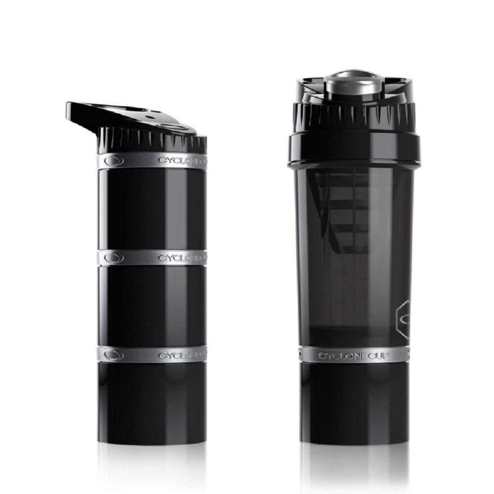 Cyclone cup | Amazing無毒多功能戶外休閒組(水壺+儲物罐) - 沉穩黑