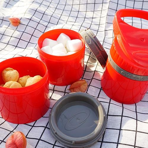 Cyclone cup | Amazing無毒多功能戶外休閒組(水壺+儲物罐) - 熱情紅