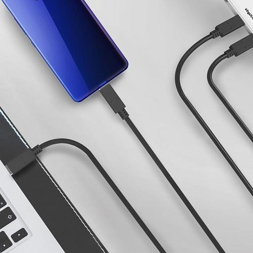 VogDUO   Cable Go 100W極速Type-C 3.0 To C 3.0 筆電手機傳輸充電線 (100cm)(經典黑)