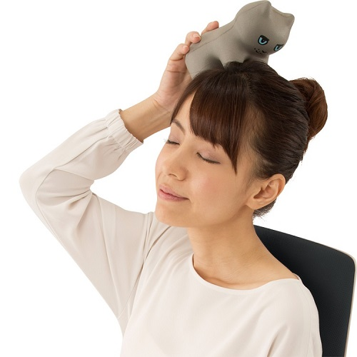 PROIDEA | 貓貓指壓頸肩臀按摩墊(茶虎貓)(黃)