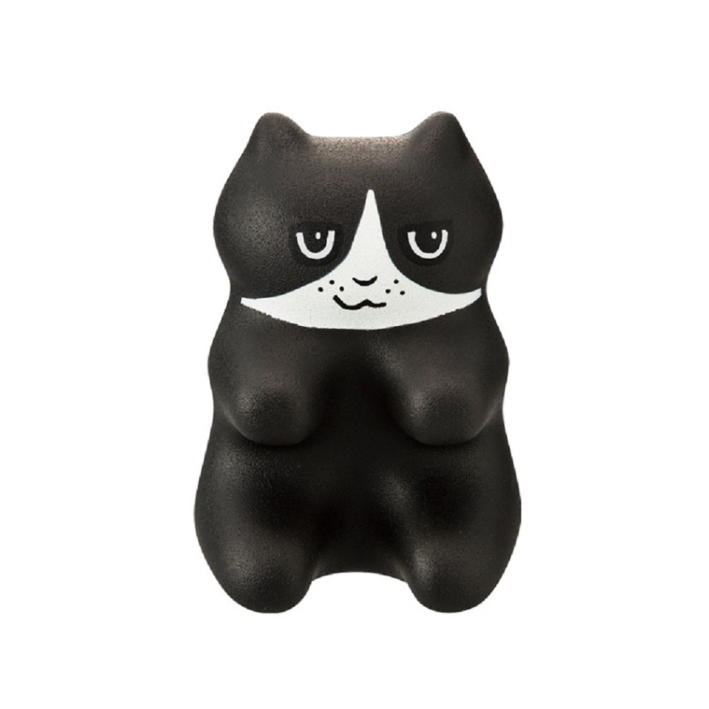 PROIDEA | 貓貓指壓頸肩臀按摩墊(八字貓)(黑)