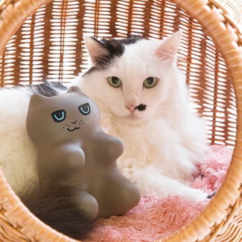 PROIDEA | 貓貓指壓頸肩臀按摩墊(俄羅斯藍貓)(灰)